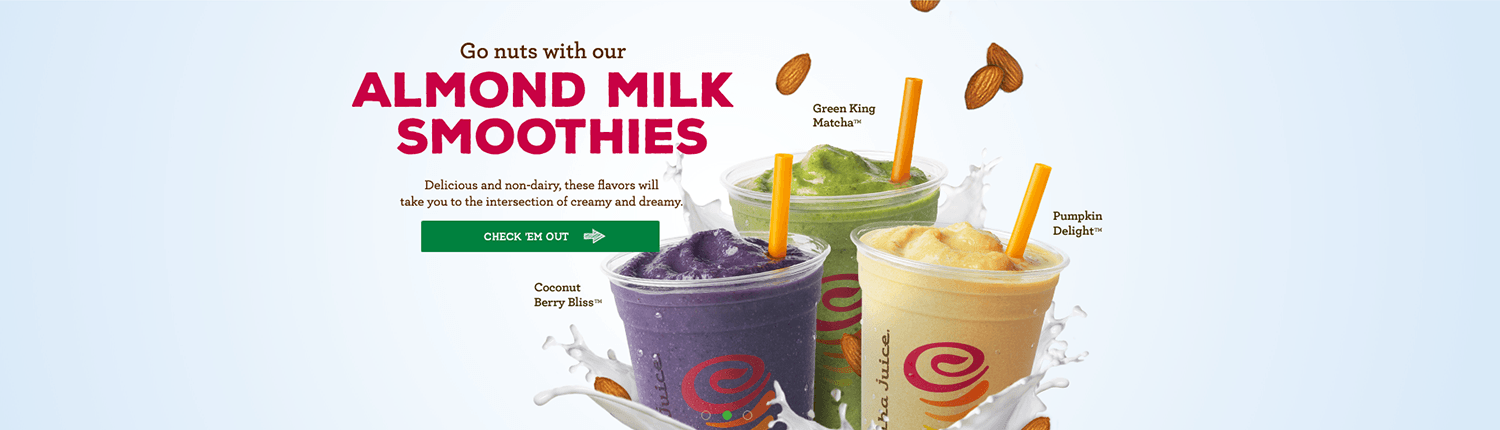 Jamba Juice non-dairy berry bliss matcha