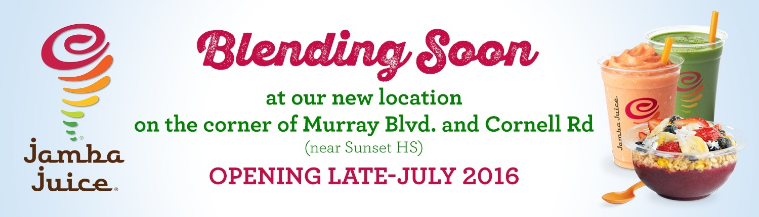 Blending soon at Murray Blvd. and Cornell Rd